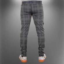 Load image into Gallery viewer, wrooker Men's Checked Track Pant Four Way Lycra