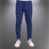 wrooker Men's Checked Track Pant Four Way Lycra