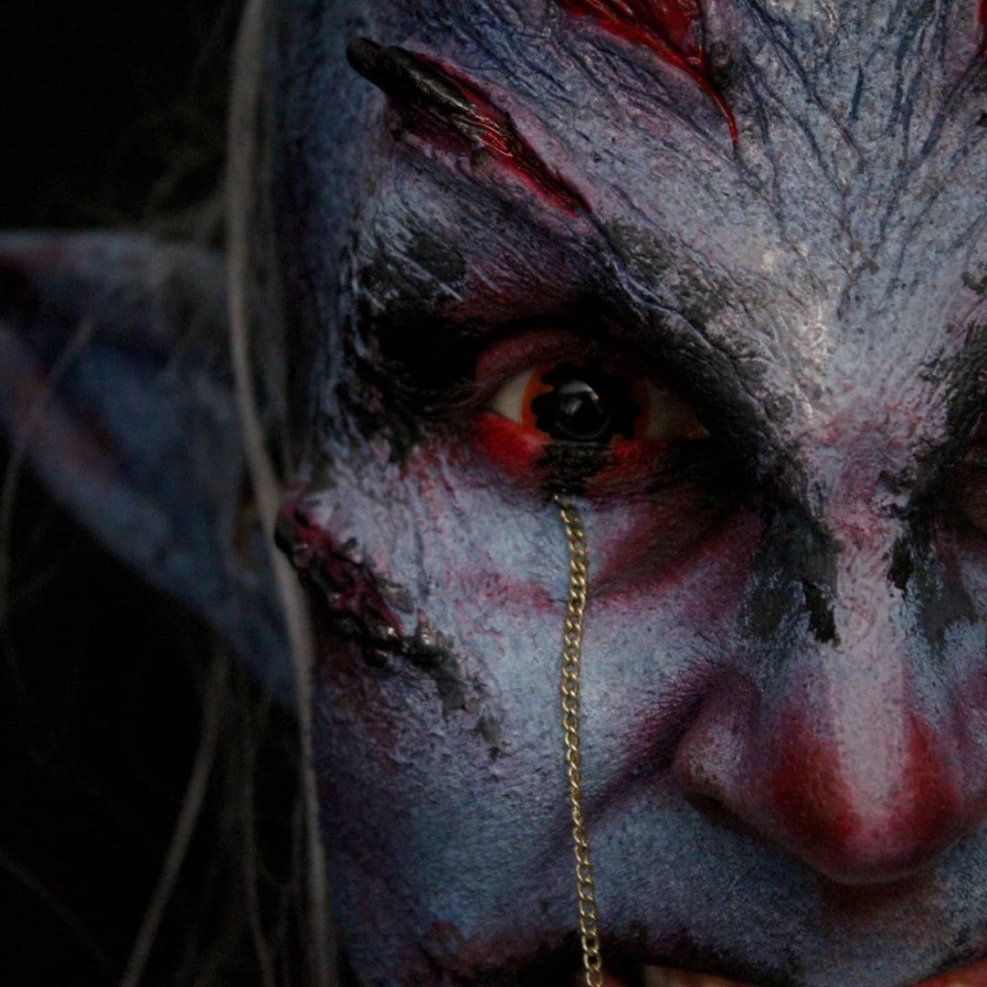 Belphegor demon price of sloth makeup look closeup