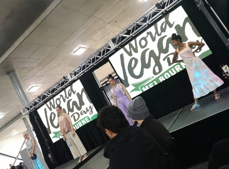 World Vegan Day Melbourne 2019 Vegan fashion show with models on runway