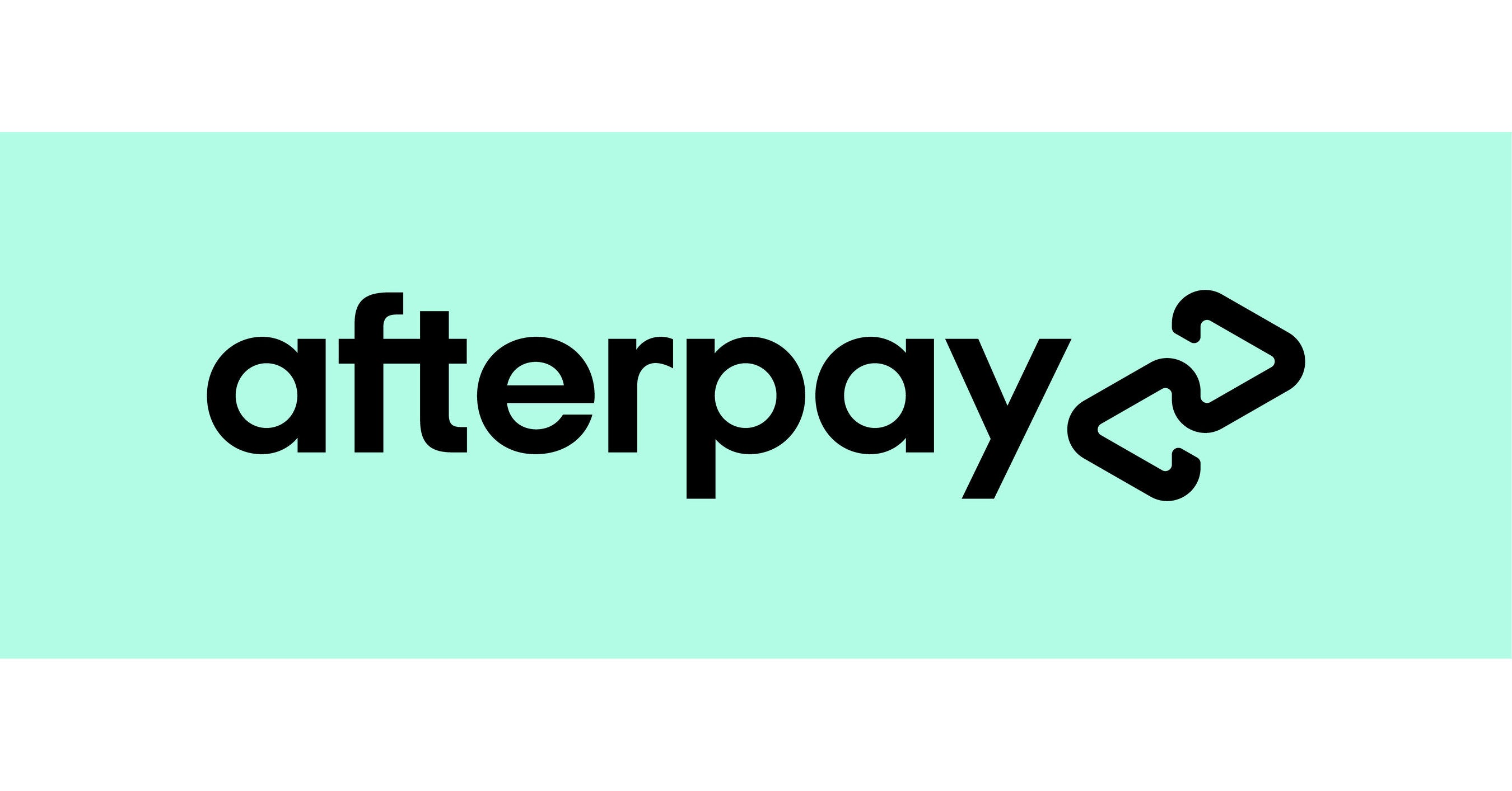 Afterpay logo buy now pay later cosmetics Australia
