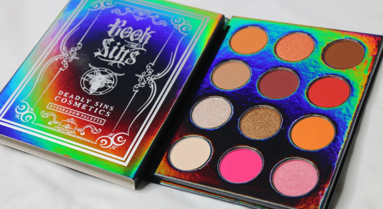 Book of sins eyeshadow palette