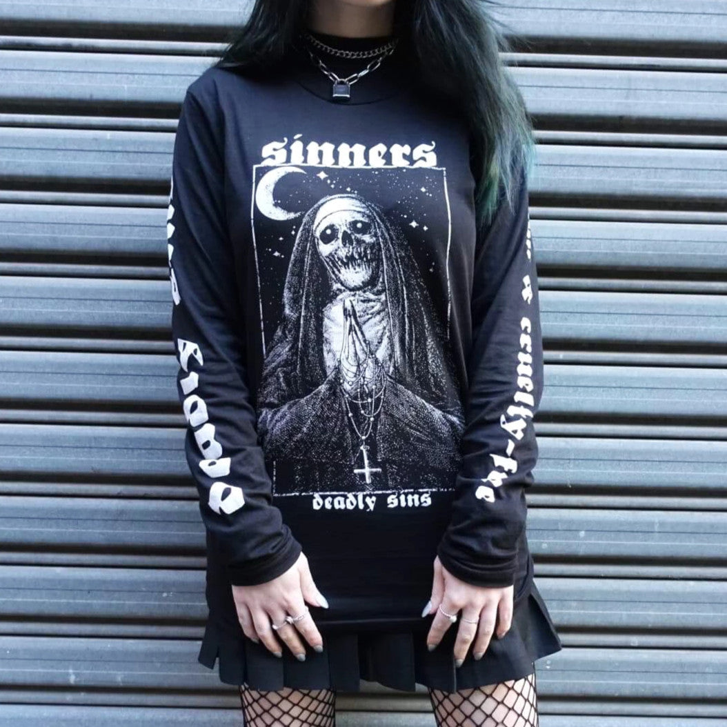 SINNER LONG SLEEVE SHIRT - Makeup & vegan/cruelty free Cosmetics Products online | Melbourne | Deadly Sins Cosmetics