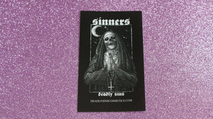 DEADLY SINS NUN STICKER - Makeup & vegan/cruelty free Cosmetics Products online | Melbourne | Deadly Sins Cosmetics