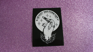 DEADLY SINS LOGO STICKER - Makeup & vegan/cruelty free Cosmetics Products online | Melbourne | Deadly Sins Cosmetics