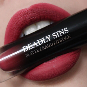 ROSEWATER - MATTE LIQUID LIPSTICK - Makeup & vegan/cruelty free Cosmetics Products online | Melbourne | Deadly Sins Cosmetics
