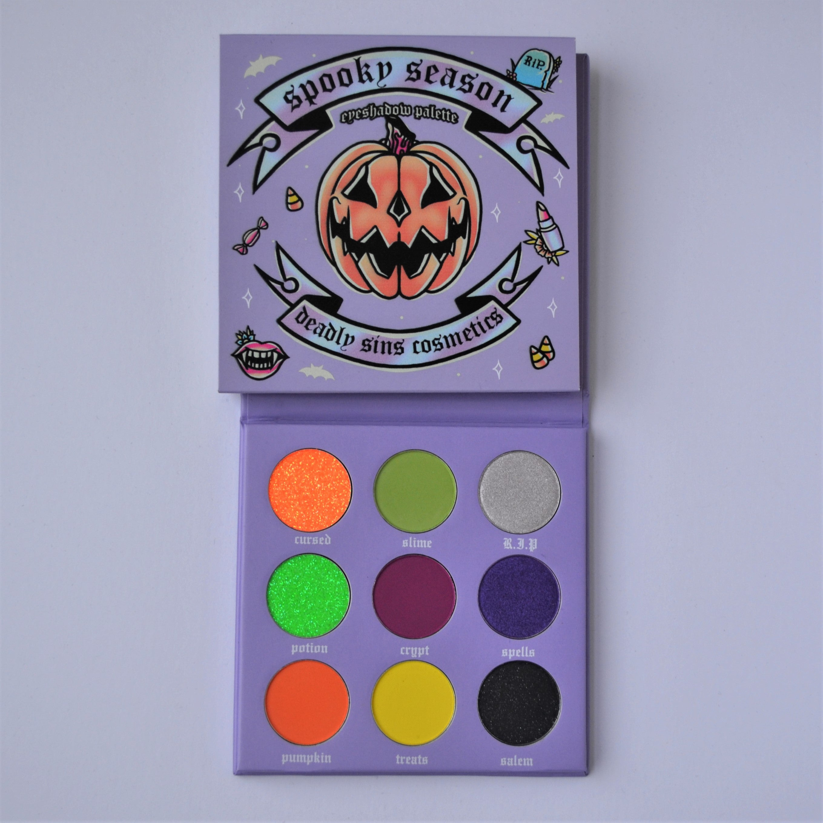 SPOOKY SEASON - EYESHADOW PALETTE - Makeup & vegan/cruelty free Cosmetics Products online | Melbourne | Deadly Sins Cosmetics