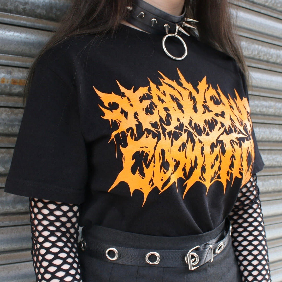 DEATH METAL LOGO SHIRT - Makeup & vegan/cruelty free Cosmetics Products online | Melbourne | Deadly Sins Cosmetics