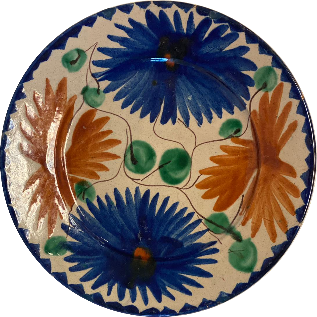 Vintage Mexican Salad Plate - Set of 6