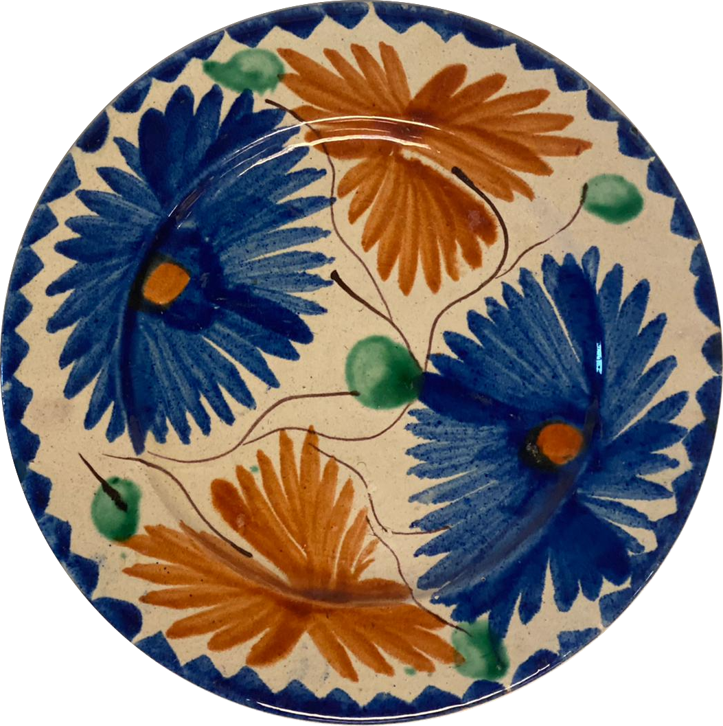 Vintage Mexican Bread Plate - Set of 6