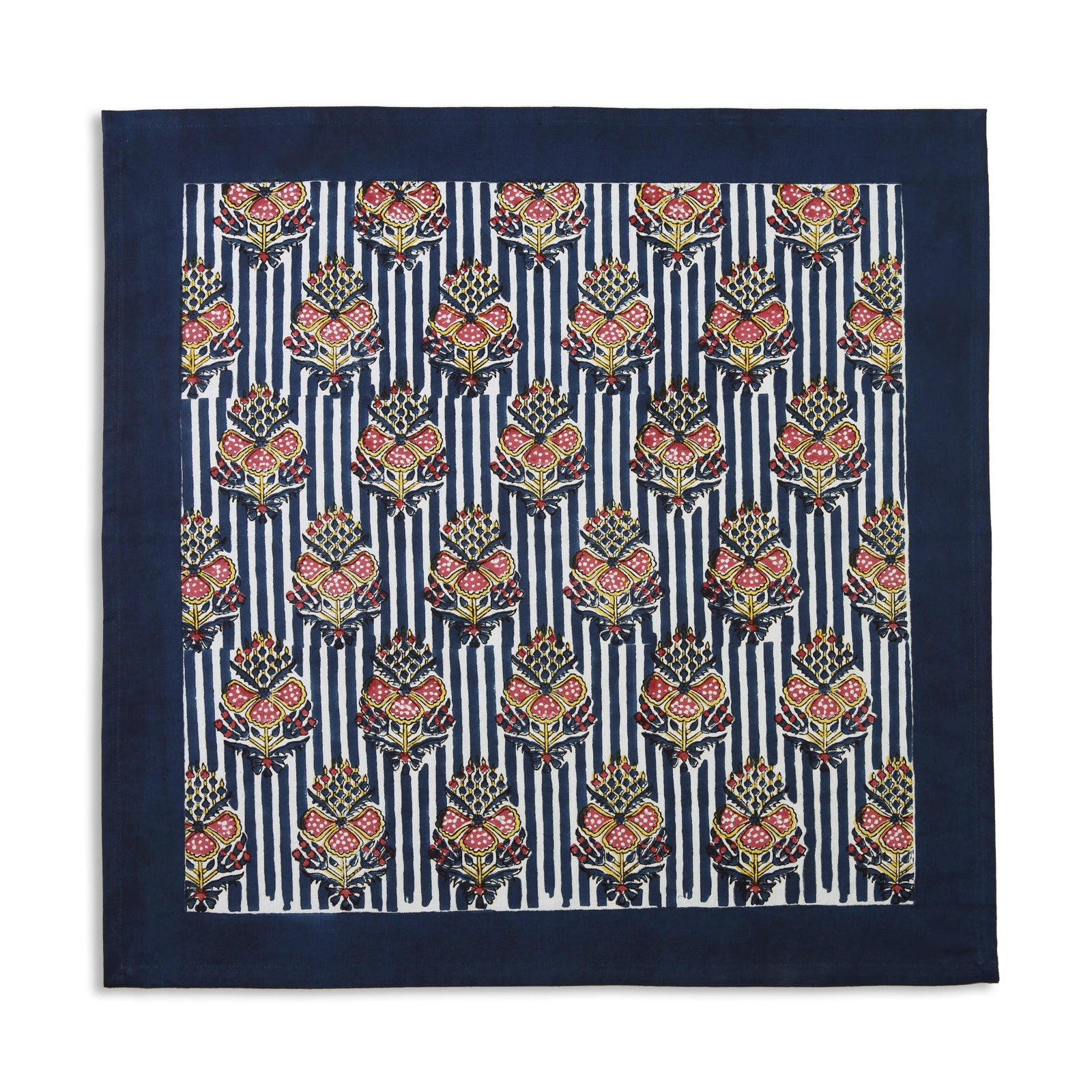 Blue Indian Flower Napkin