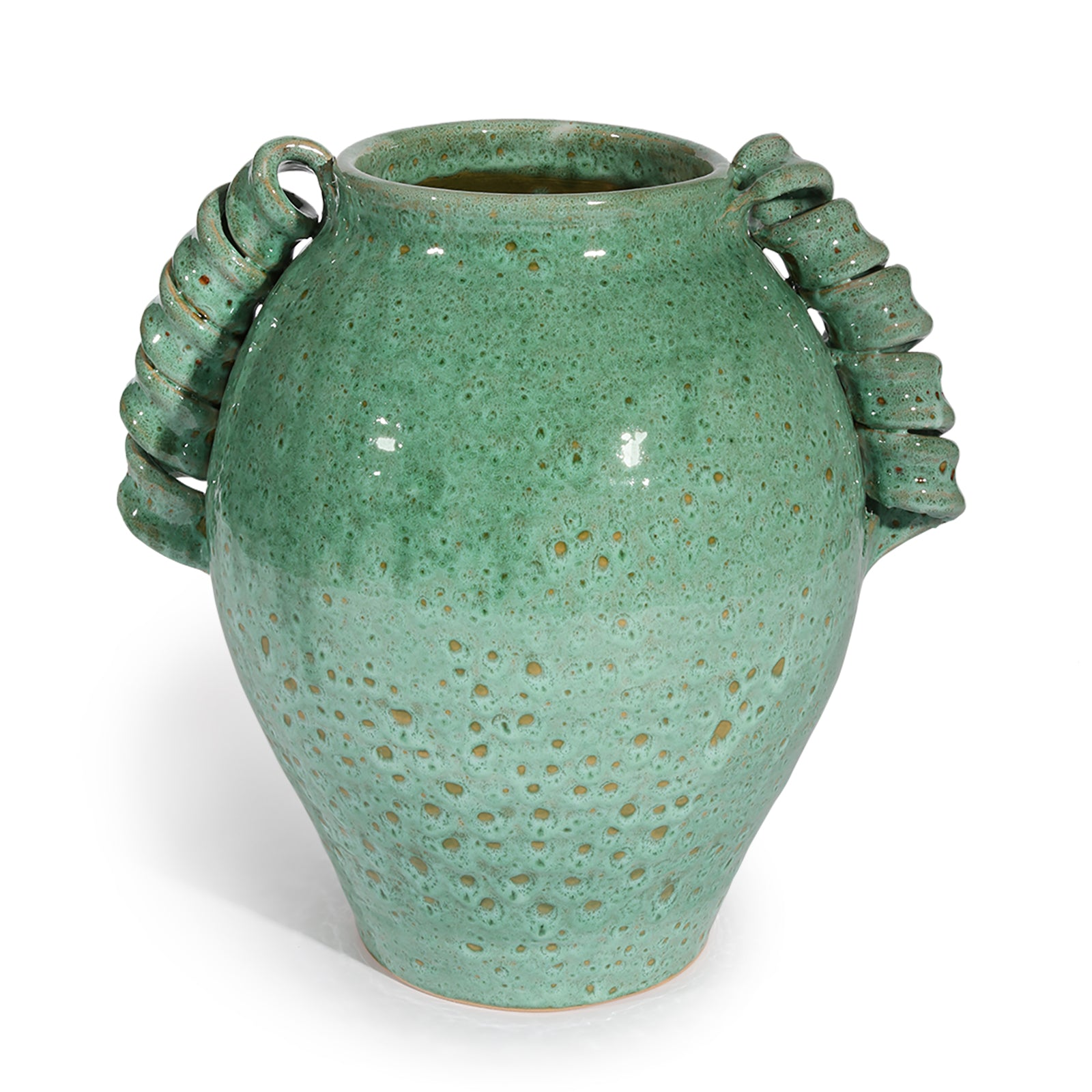 Verdigris Twisted Vase