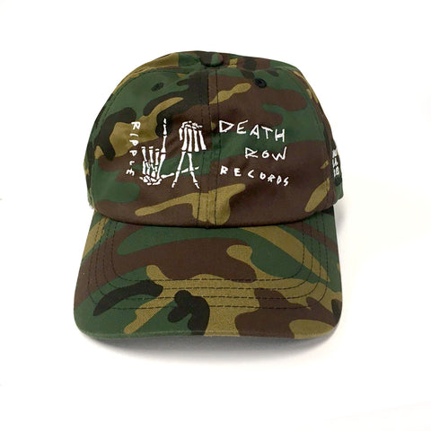 EMBROIDERED SCRATCH L.A. HANDS BASEBALL HAT CAMO