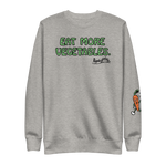 Ripple Eat More Vegetables Unisex Crew Sweatshirt