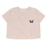 Ripple Vibrant Butterfly Embroidered Women's Flowy Crop Tee