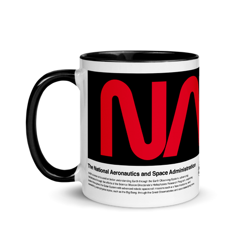 NASA Logo Red and Black Ceramic Mug