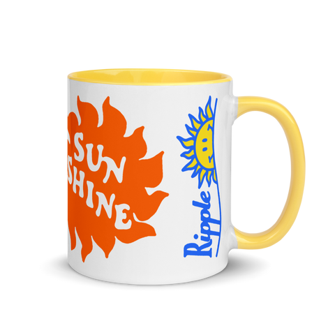 Ripple Ridin' On A Beam Of Sunshine Ceramic Mug