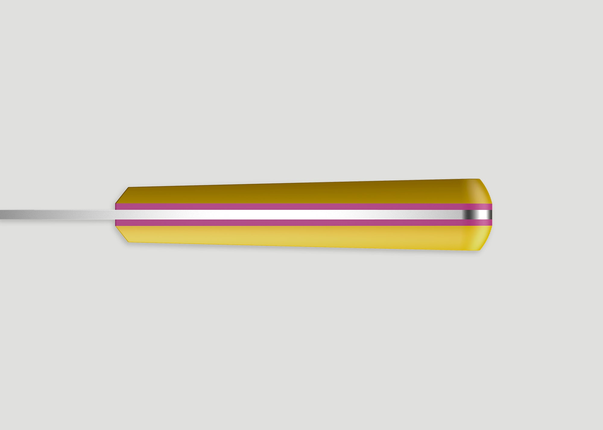 F4 BREAD KNIFE - YELLOW/PINK