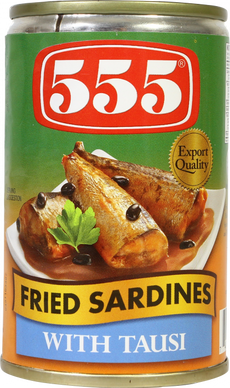 555 Fried Sardines Tausi 155g