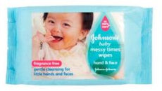 Johnson's Baby Messy Times Wipe 20's