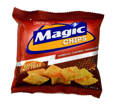 Magic Chips Barbecue Flavored Cracker Chips Baked Not Fried, 28g