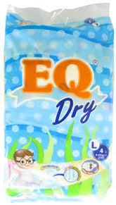 EQ Dry Diapers L 4s