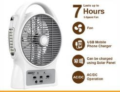 Firefly 3-Speed Air Cooler w/ USB Charger & 12 LED Night Light