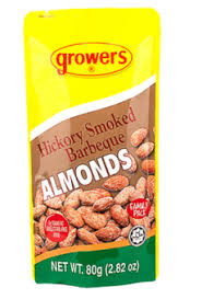 Growers Hickory Smoked Almond Barbeque 80g