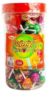 Columbia's Frooty Rainbow Pop Jar 100 Pcs