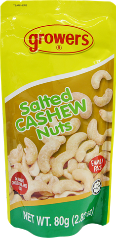 Growers Salted Cashew Nuts 80g