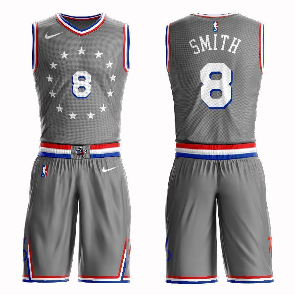 new product 67d15 09650 Philadelphia 76ers #8 Zhaire Smith City 2019 Jersey and Pant Set