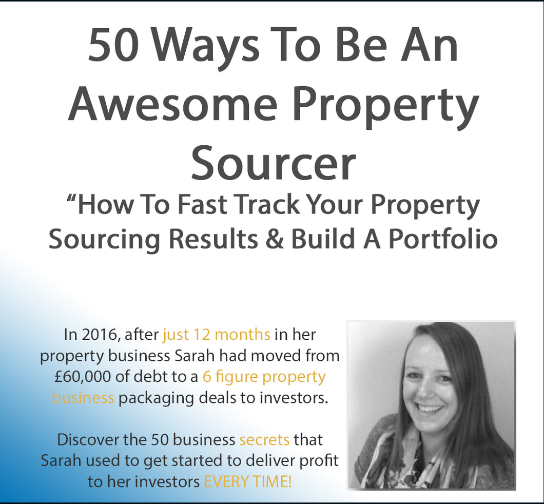 50 Sourcing Video Tips For Start Up Property Sourcers (5+hours) Digital