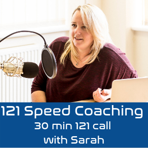 30 Minute Private 1-2-1 Speed Coaching Call - Sarah Poynton-Ryan