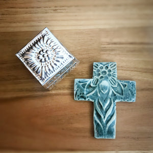 EMBOSSED STONEWARE CROSS