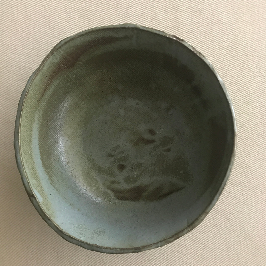 MOSS GREEN AND GREY BOWL