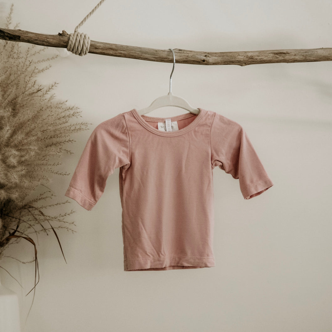 Blush Oeko-Tex Certified Bamboo Knit Long Sleeve Shirt