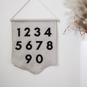 Numbers Linen Wall Banner