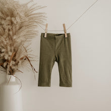 Load image into Gallery viewer, Moss Oeko-Tex Certified Bamboo Ribbed Knit Pants