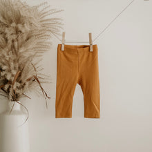 Load image into Gallery viewer, Mustard Oeko-Tex Certified Bamboo Ribbed Knit Pants