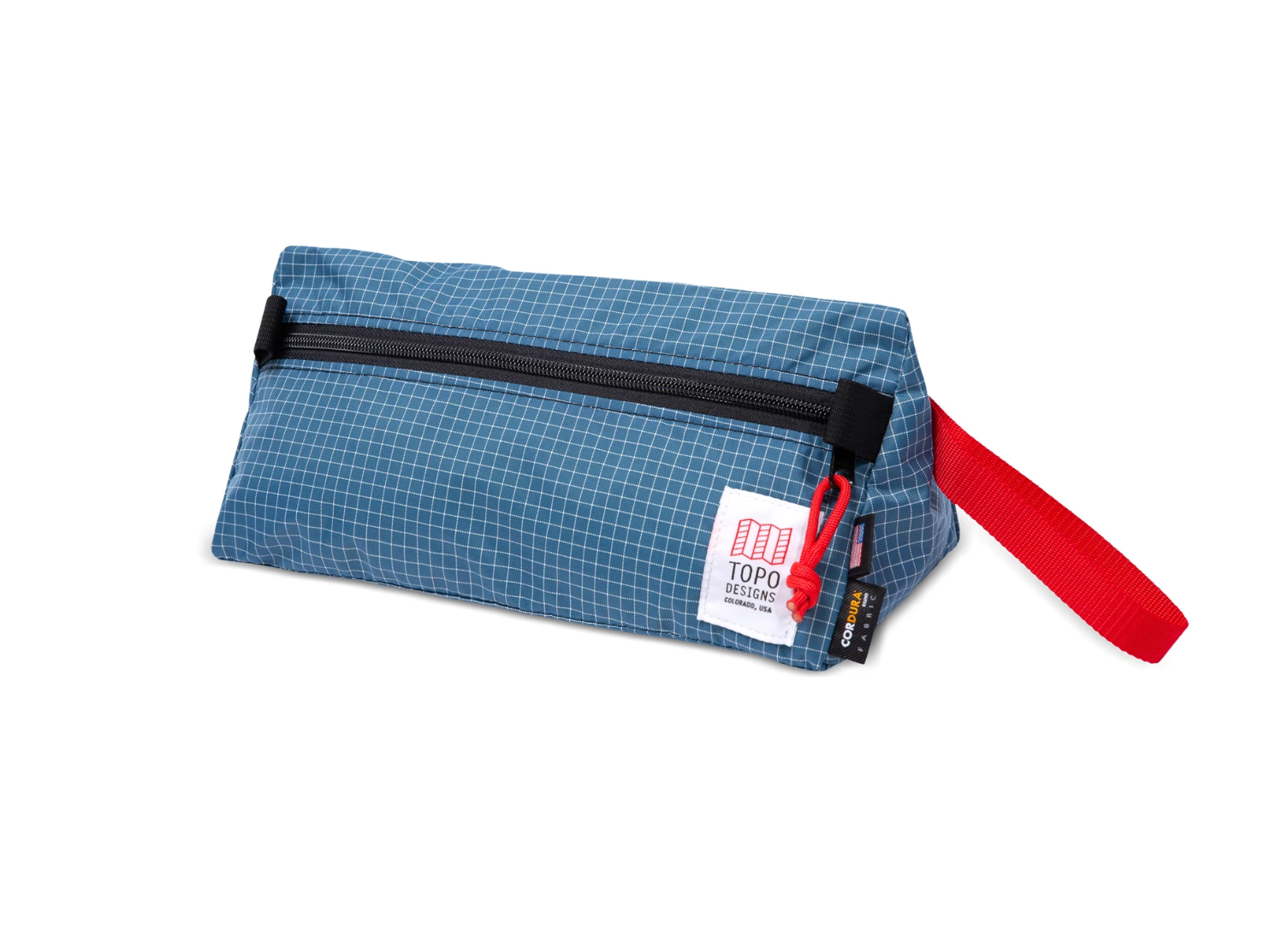 Topo Designs Dopp Kit - Blue/White Ripstop