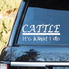 "2Pcs/Set 7""x5.5"" Cattle - It's What I do Decal"