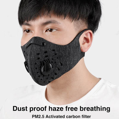 BIKING Cycling Sport Training Face Mask Mask KN95 PM2.5 Anti pollution Running Mask Activated Carbon Filter Washable Mask|Masks