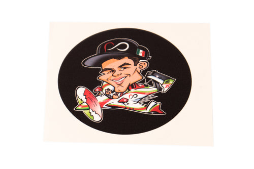 Black Cartoon Patricio O'Ward Sticker