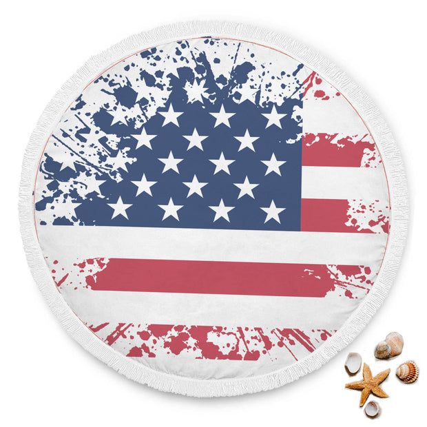 USA Flag Beach Blanket