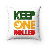 KEEP BLAZING Spun Polyester Square Pillow