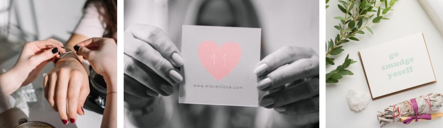 About Eleven Love Ottawa Handmade Crystal Jewelery Candles Cards Love Notes