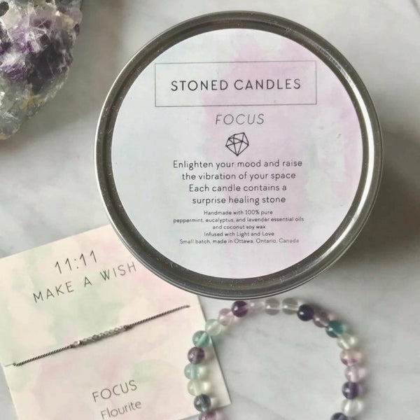 Focus Stoned Candle