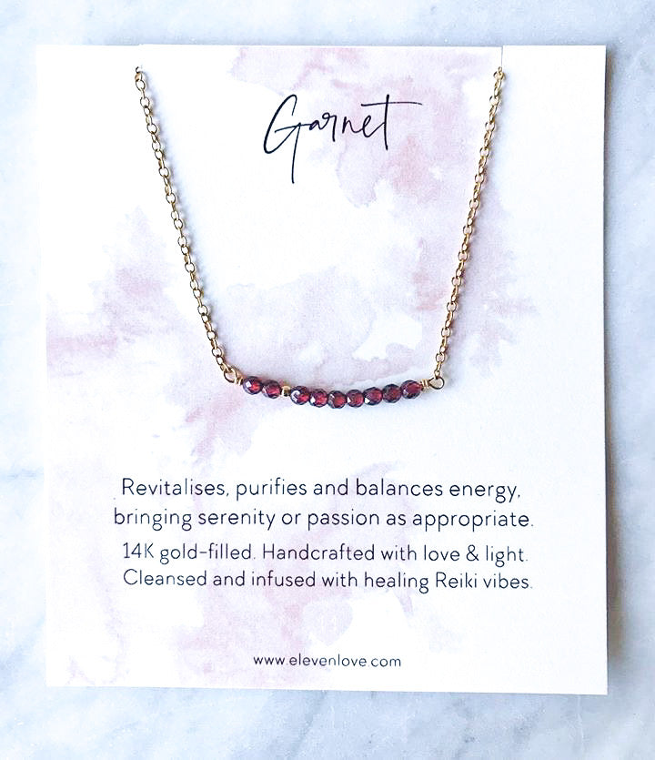 Garnet 14K Gold Necklace