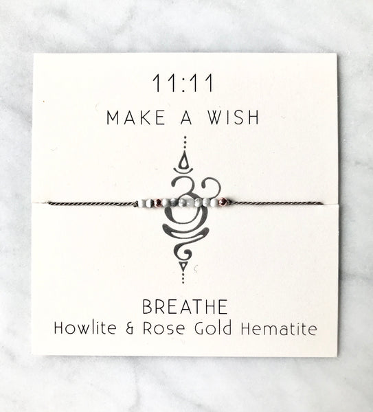 Breathe Wish Bracelet