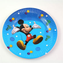 Load image into Gallery viewer, Mickey Mouse Themed Blue Paper Plate Ideal For Birthday Parties